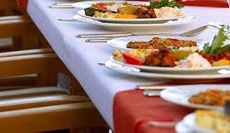 Комплексные обеды, Хлеб, Одноразовая посуда, Салаты и закуски, Бутерброды, Первые блюда, Вторые блюда, Овощные блюда и гарниры
